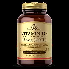 Витамин д3 Solgar Vitamin D3 600 IU (120 капс) солгар