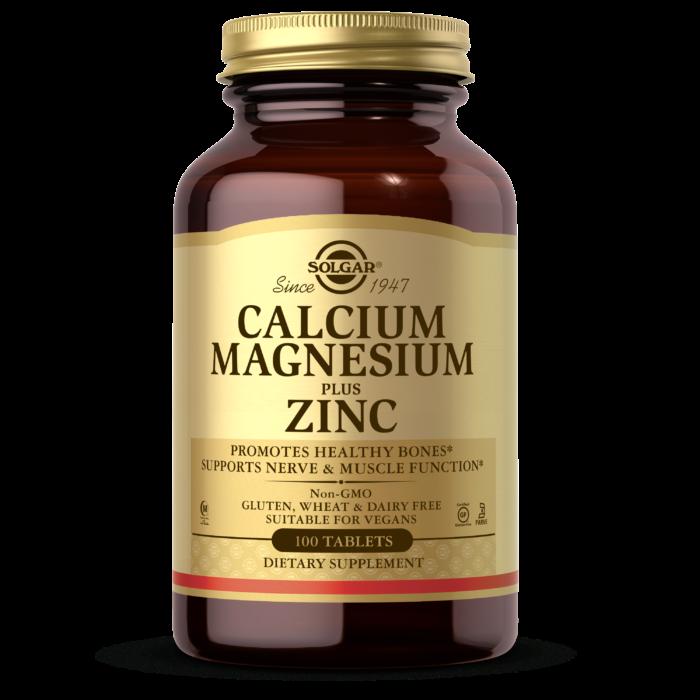 Кальций магний цинк Solgar Calcium Magnesium & Zinc (100 таб) солгар