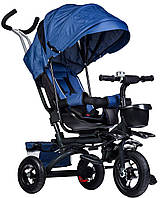 Прогулянковий велосипед триколісний візок Ecotoys JM-068-17 BLUE