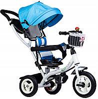 Прогулянковий велосипед триколісний візок Ecotoys JM-066-9L BLUE
