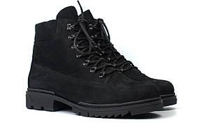 М'які черевики чоловічі зимові нубук на хутрі взуття великих розмірів Rosso Avangard Taiga Ultimate Black Nub BS