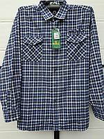 Рубашка теплая мужская норма 48-56 карман змейка