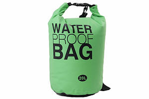 Гермомешок Weatro Waterproor bag 20L Зелёный (8-4055-3)