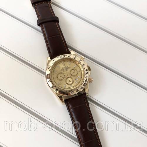 Rolex Daytona Brown-Gold Leather