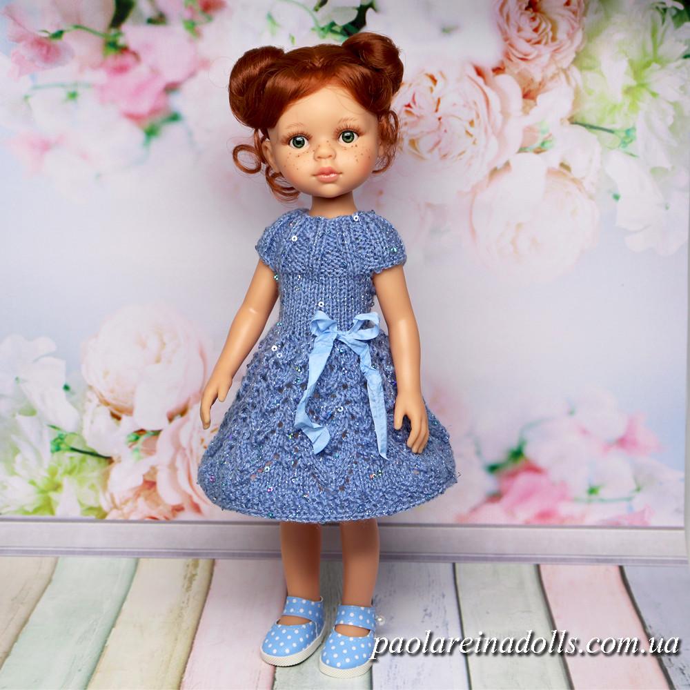 """Платье """"Лепестки роз"""" с паетками для кукол Паола Рейна"""