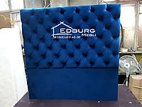 Мягкие спинки кровати на заказ с пуговицами из велюра, фото 1