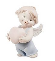 "Фарфоровая статуэтка ""Ангелочек"" бисквит (Pavone) JP-48/28"