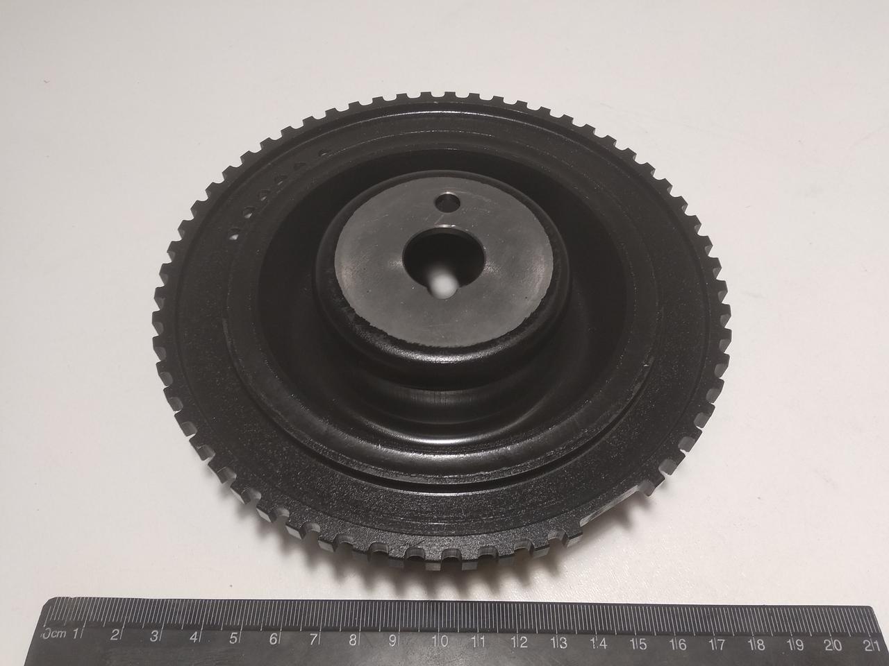 Шкив коленвала (демпфер) ВАЗ 2110 инж 8-клап резино-металл., АвтоВАЗ (черный)