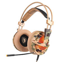 Навушники Sades A6 7.1 Virtual Surround Sound Black/Camo USB