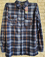 Рубашка теплая мужская на пуговицах в розницу 54-56 размер, фото 1