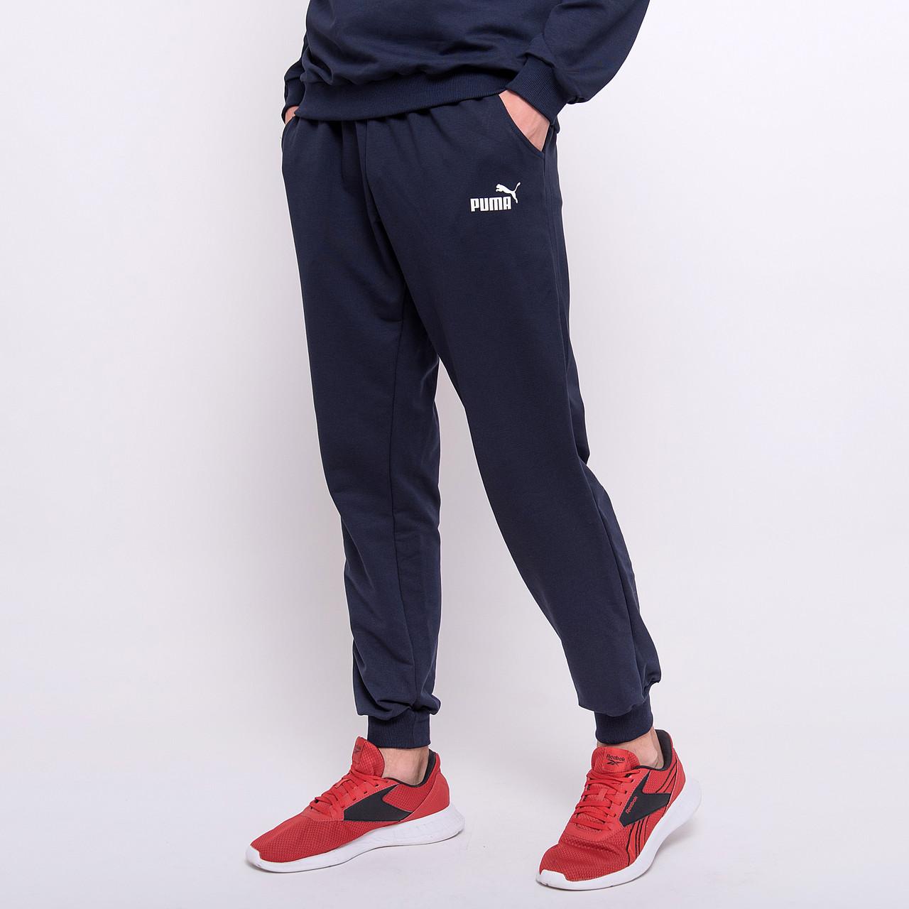 Чоловічі спортивні штани Puma, синього кольору (трикотаж)