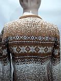 Зимний мужской теплый шерстяной свитер с орнаментом Rewac Турецкий Горчичный, фото 2