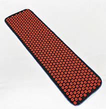 Килимок масажний Аплікатор Кузнєцова (масажер для спини і ніг) OSPORT Lite 145 (apl-010) Чорно-червоний