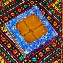 Подарочный набор квадратных чайных восковых свечей (4шт.)