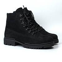 Мягкие ботинки мужские зимние нубук обувь на меху берцы Rosso Avangard Taiga Ultimate Black Nub, фото 1