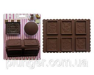 Набір форм для печива з шоколадом Новорічні квадрати