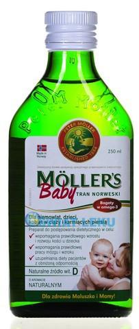 Рыбий жир для детей и кормящих мам Moller's, 250 мл