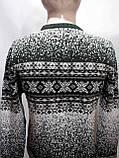Зимний мужской теплый шерстяной свитер с орнаментом Rewac Турецкий Зеленый, фото 9