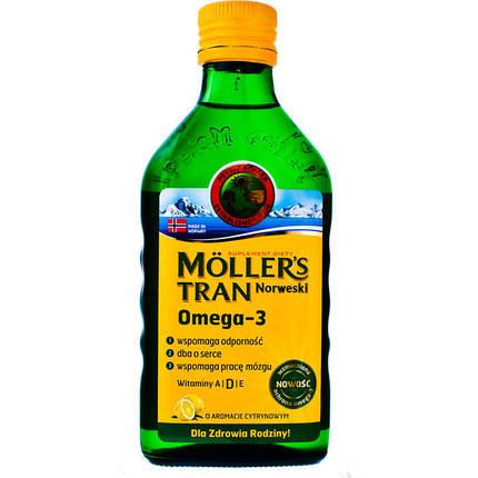 Рыбий жир с лимонным вкусом Moller's, 250 мл, фото 2