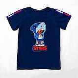 Футболка Бравл Старс р.128,134,140,146 для мальчика SmileTime Crown Brawl Stars, темно-синяя, фото 3