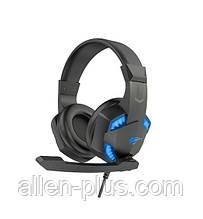 Наушники игровые с микрофоном и подсветкой HAVIT HV-H2032D/GAMING, black/blue