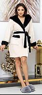 Махровый халат женский короткий, фото 1