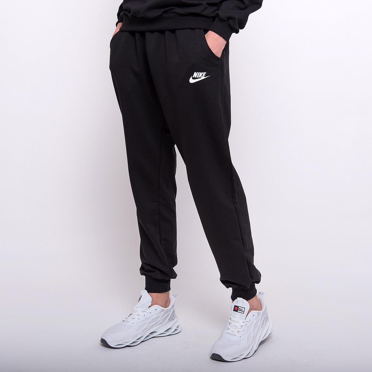 Чоловічі спортивні штани Nike, чорного кольору (трикотаж)