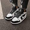Кроссовки женские Nike Air Jordan 1 Retro White Black suede, фото 2