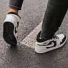 Кроссовки женские Nike Air Jordan 1 Retro White Black suede, фото 5