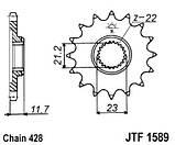 Звезда стальная передняя JT Sprockets JT JTF1589.19, фото 2