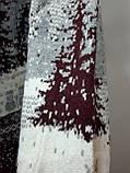 Мужской теплый шерстяной свитер под горло с новогодним орнаментом Турция Бордовый, фото 3