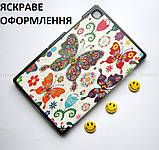Женский чехол с бабочками Samsung Galaxy Tab A7 10.4 2020 Silver (Sm T500 T505) Ivanaks Tri Fold Butterflies, фото 5