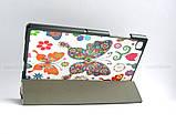 Женский чехол с бабочками Samsung Galaxy Tab A7 10.4 2020 Silver (Sm T500 T505) Ivanaks Tri Fold Butterflies, фото 3