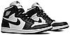 Кроссовки мужские Nike Air Jordan 1 Retro High OG Black White (555088-010) Leather черные, фото 3