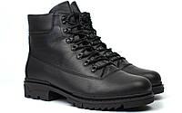 Ботинки мужские зимние кожаные берцы обувь на меху Rosso Avangard Taiga Ultimate Black Leather Monza, фото 1
