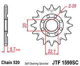 Зірка сталева передня JT Sprockets JT JTF1590.14SC, фото 2