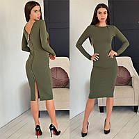 Сукня жіноча красиве по фігурі з блискавкою різні кольори Sman5259