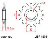 Звезда передняя с резиновой вставкой JT Sprockets JT JTF1591.16RB, фото 2