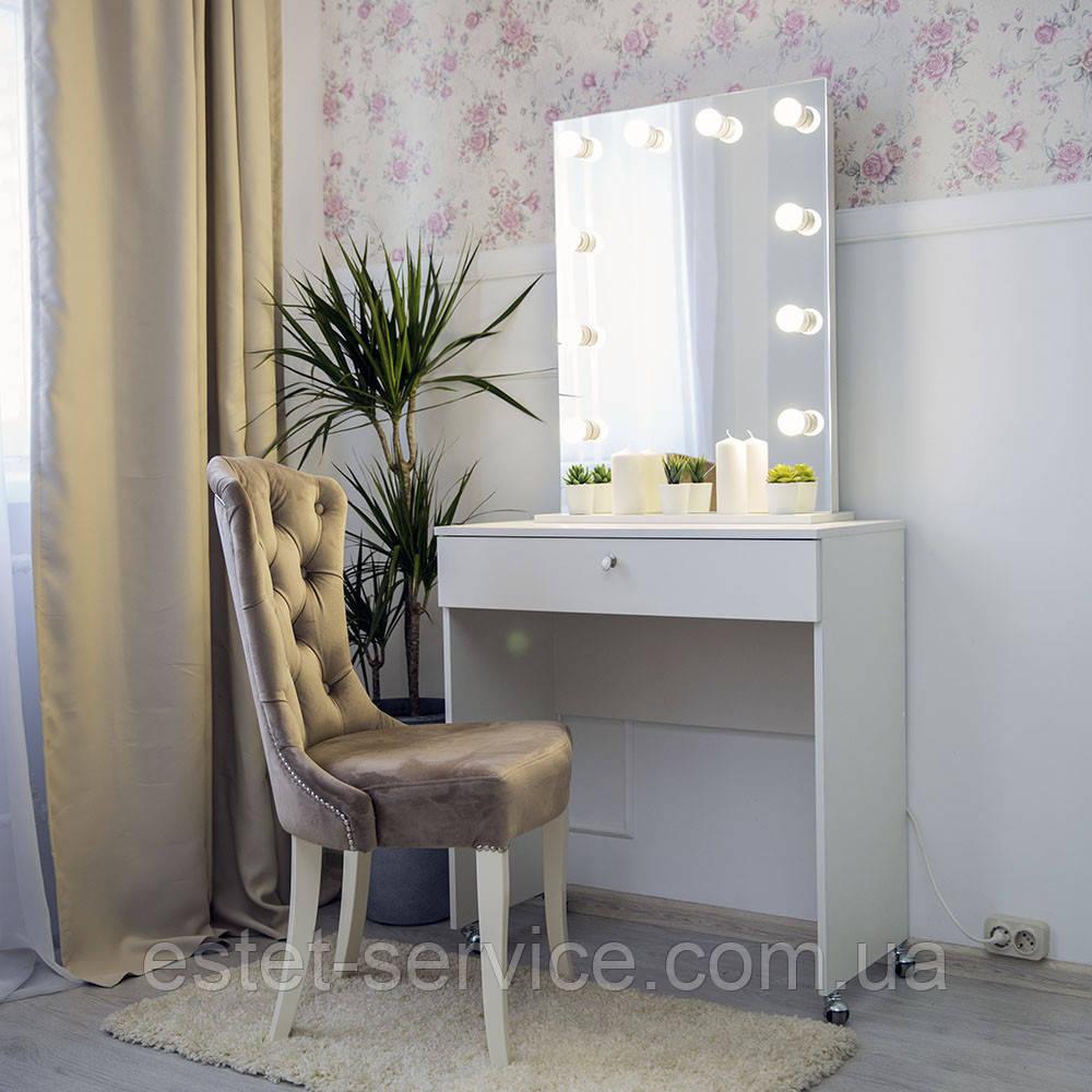 Туалетный столик на колесах с зеркалом без рами