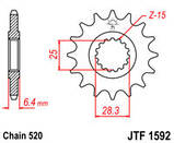 Звезда стальная передняя JT Sprockets JT JTF1592.14, фото 2
