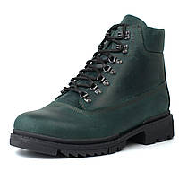 Зеленые ботинки мужские зимние кожаные обувь больших размеров Rosso Avangard Taiga Ultimate Green Leather BS, фото 1