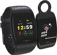 Фитнес браслет с возможностью работы в виде брелка Smart Band HP-P1 черный