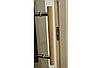Универсальная стеклянная дверь липа Tesli Steel Sateen 1900х700мм бронзовая матовая для бани и сауны, фото 6