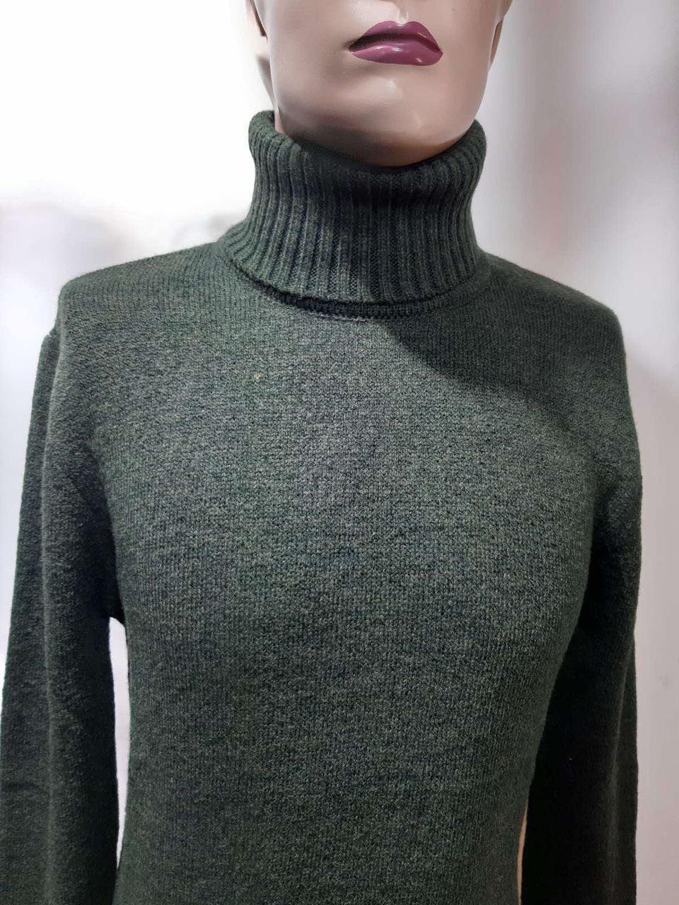 Чоловічий светр теплий вовняний гольф Rewac зимовий під горло Зелений