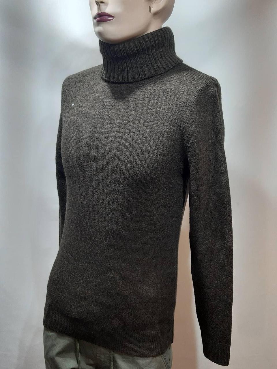Мужской теплый шерстяной гольф Rewac зимний турецкий свитер под горло Коричневый