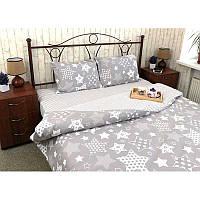 Комплект постельного белья Grey Star серый евро (70х70)