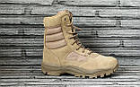 Ботинки кожаные военные. Берцы, ботинки трекинговые, армейские EXC Trooper 8.0. Спецобувь., фото 2