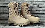 Ботинки кожаные военные. Берцы, ботинки трекинговые, армейские EXC Trooper 8.0. Спецобувь., фото 3