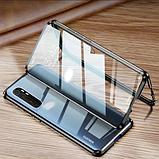 Магнітний метал чохол FULL GLASS 360° для Xiaomi Mi Note 10 Lite /, фото 6