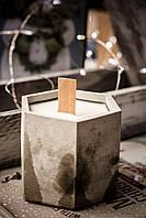 Соевая Свеча в бетоне